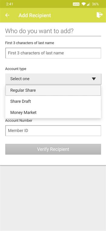 Mobile Account Type